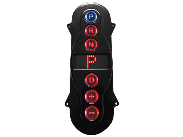 A-GSM2102 - GSM Black Anodized Inline Vertical Push Button Shifter Remote