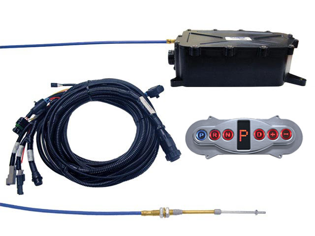 A-GSM5013 - Gear Select Module Kit w/Polished Inline Horizontal Remote Configured for PCS CAN